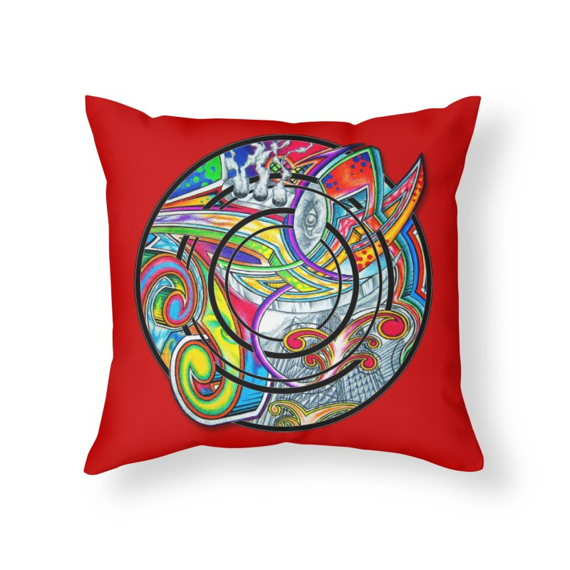 Cyclical Zero Home Throw Pillow by inbrightestday's Artist Shop