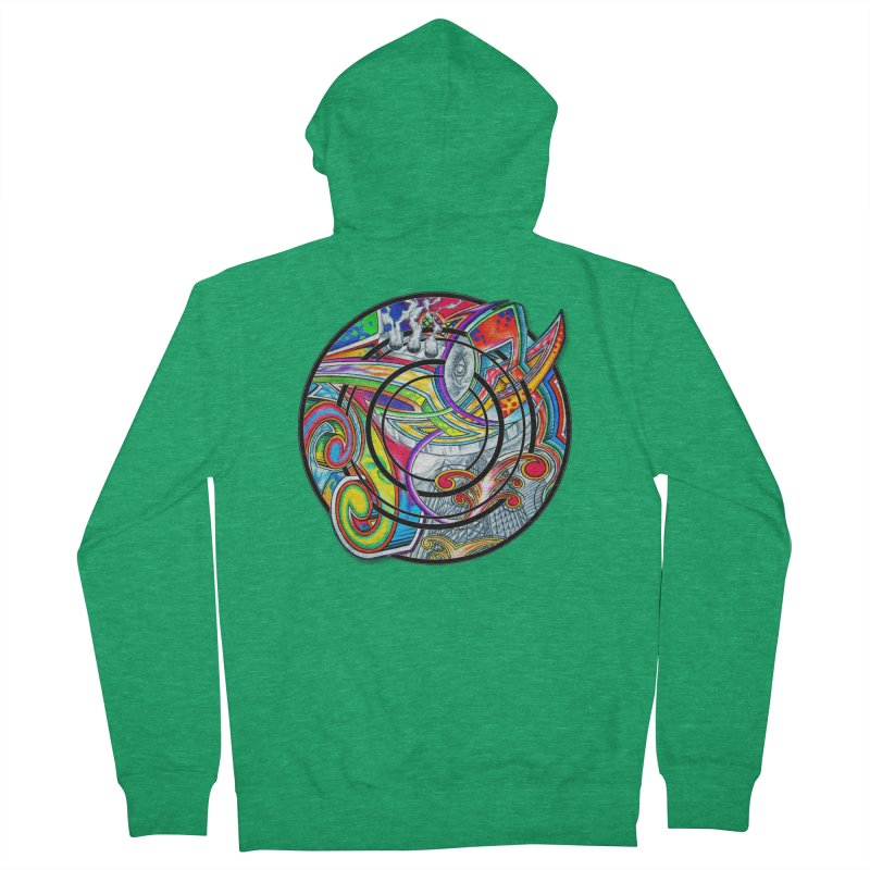 Cyclical Zero Men's French Terry Zip-Up Hoody by inbrightestday's Artist Shop