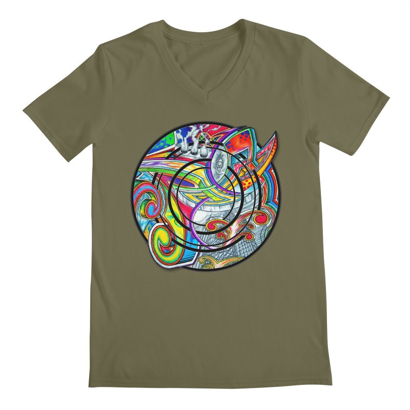 Cyclical Zero Men's Regular V-Neck by inbrightestday's Artist Shop