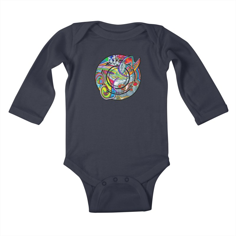 Cyclical Zero Kids Baby Longsleeve Bodysuit by inbrightestday's Artist Shop