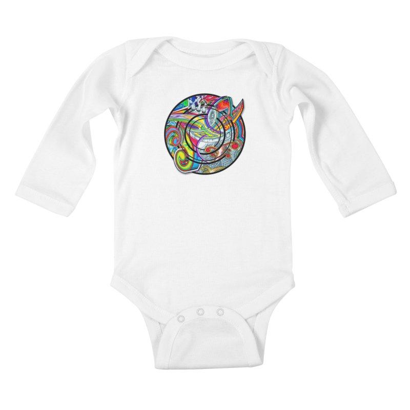 Cyclical Zero Kids Baby Longsleeve Bodysuit by inbrightestday's Artist Shop