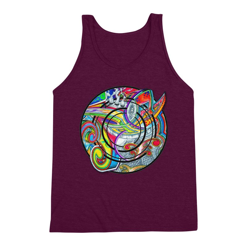 Cyclical Zero Men's Triblend Tank by inbrightestday's Artist Shop