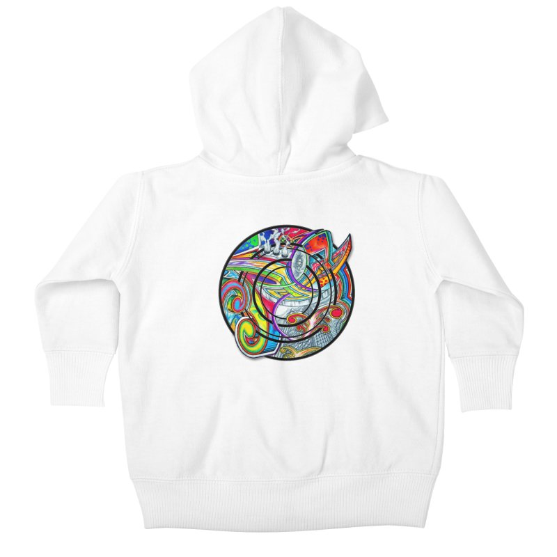 Cyclical Zero Kids Baby Zip-Up Hoody by inbrightestday's Artist Shop