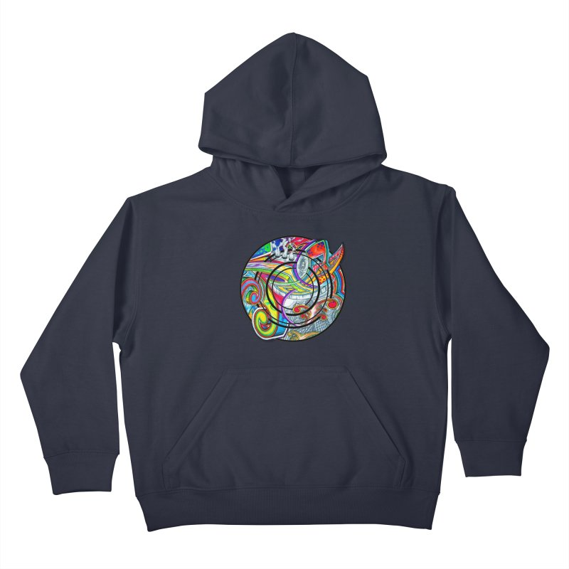 Cyclical Zero Kids Pullover Hoody by inbrightestday's Artist Shop