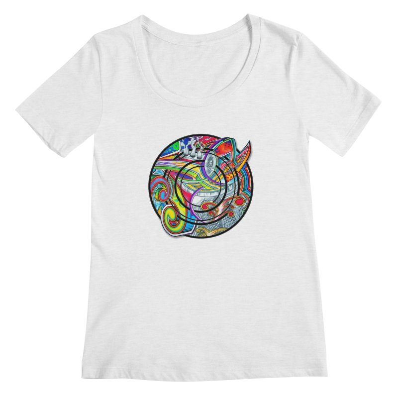 Cyclical Zero Women's Regular Scoop Neck by inbrightestday's Artist Shop