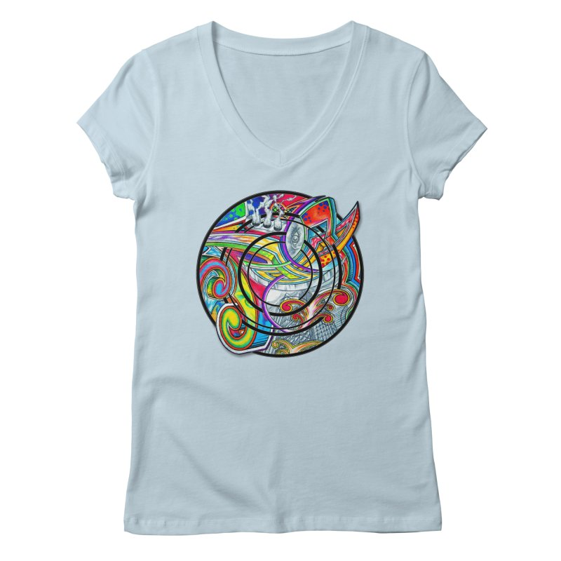 Cyclical Zero Women's Regular V-Neck by inbrightestday's Artist Shop