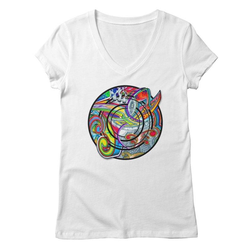 Cyclical Zero Women's Regular V-Neck by inbrightestday's Artist Shop