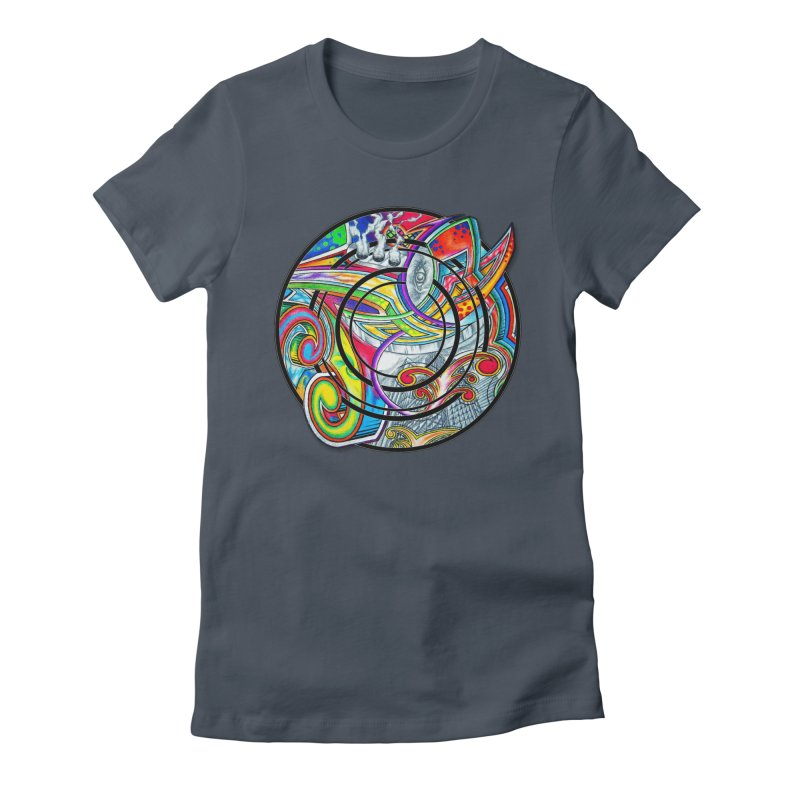 Cyclical Zero Women's Fitted T-Shirt by inbrightestday's Artist Shop