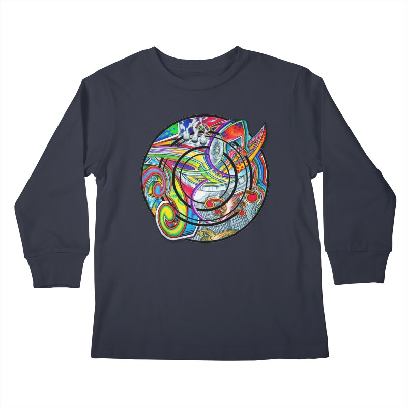 Cyclical Zero Kids Longsleeve T-Shirt by inbrightestday's Artist Shop