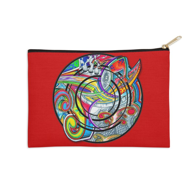 Cyclical Zero Accessories Zip Pouch by inbrightestday's Artist Shop