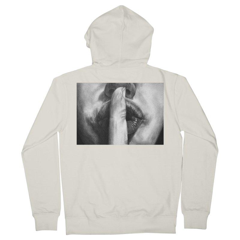 Hush Women's Zip-Up Hoody by inbrightestday's Artist Shop