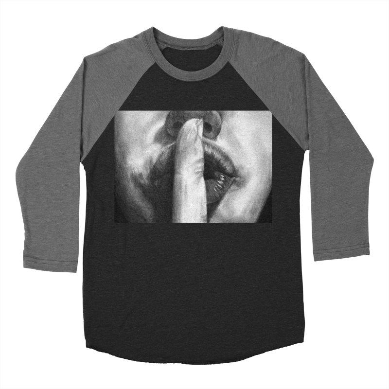 Hush Men's Baseball Triblend T-Shirt by inbrightestday's Artist Shop
