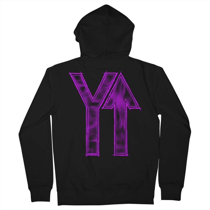 YUP!! Men's Zip-Up Hoody by inbrightestday's Artist Shop