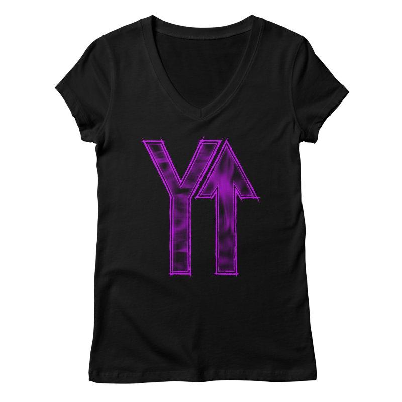 YUP!! Women's V-Neck by inbrightestday's Artist Shop
