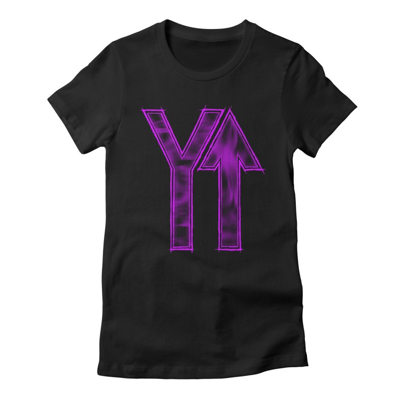 YUP!! Women's Fitted T-Shirt by inbrightestday's Artist Shop
