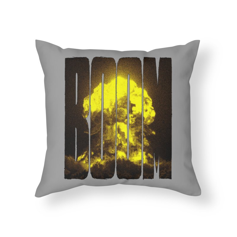 BOOM Home Throw Pillow by inbrightestday's Artist Shop