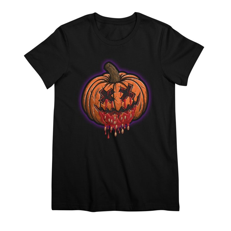 Pumpkin Sliced Women's Premium T-Shirt by inbrightestday's Artist Shop