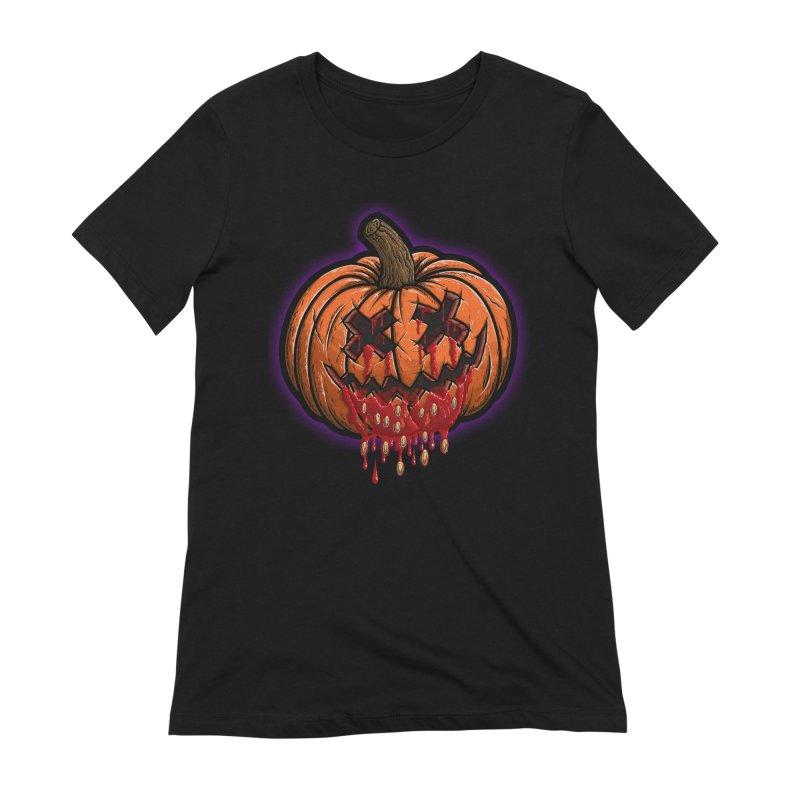 Pumpkin Sliced Women's Extra Soft T-Shirt by inbrightestday's Artist Shop