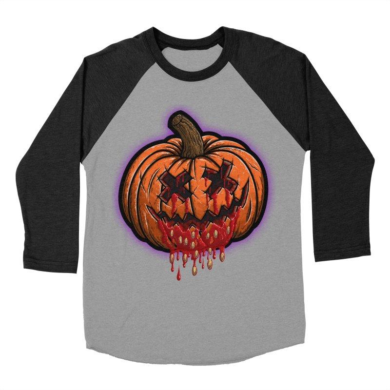 Pumpkin Sliced Women's Baseball Triblend Longsleeve T-Shirt by inbrightestday's Artist Shop