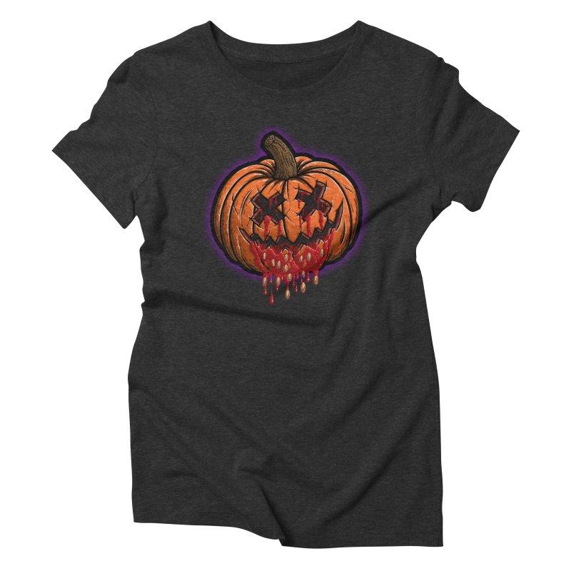 Pumpkin Sliced Women's Triblend T-Shirt by inbrightestday's Artist Shop
