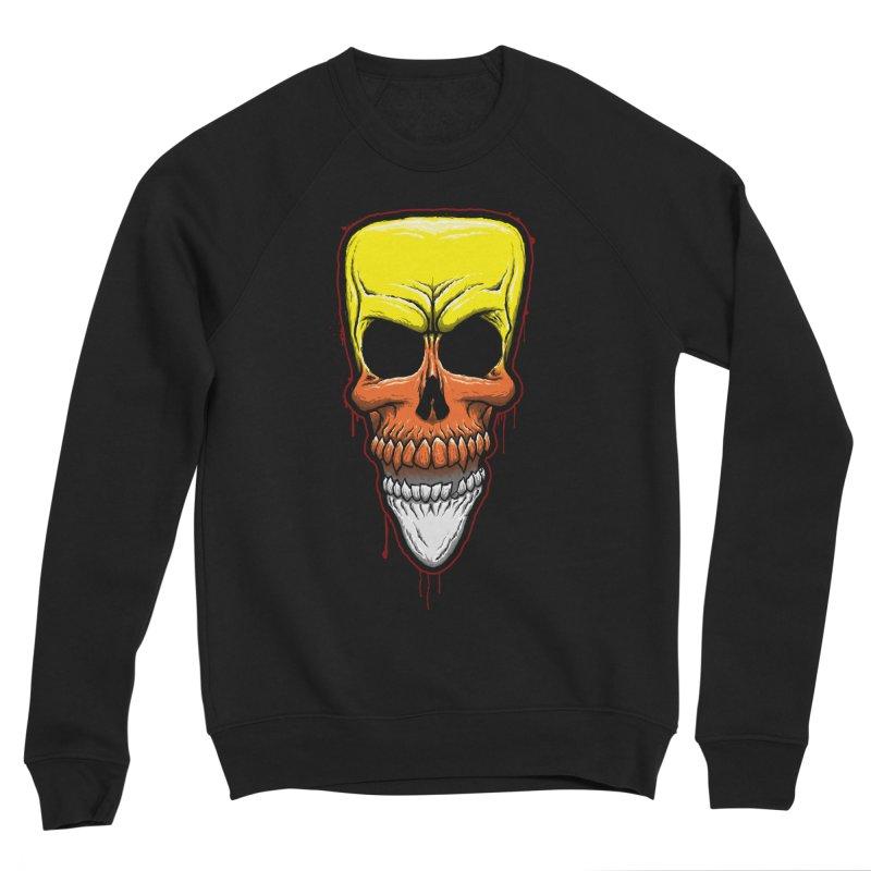 Candy Skull Men's Sponge Fleece Sweatshirt by inbrightestday's Artist Shop