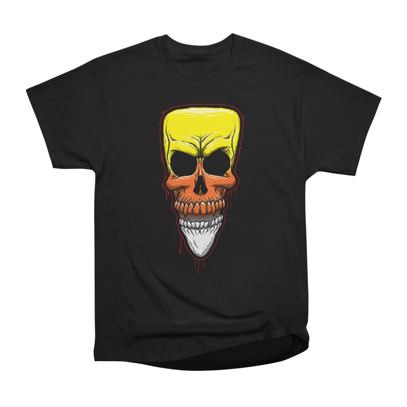 Candy Skull Men's Heavyweight T-Shirt by inbrightestday's Artist Shop