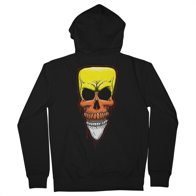 Candy Skull Men's French Terry Zip-Up Hoody by inbrightestday's Artist Shop