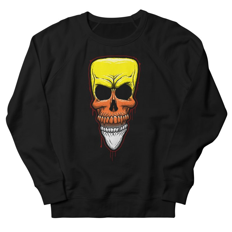 Candy Skull Women's French Terry Sweatshirt by inbrightestday's Artist Shop