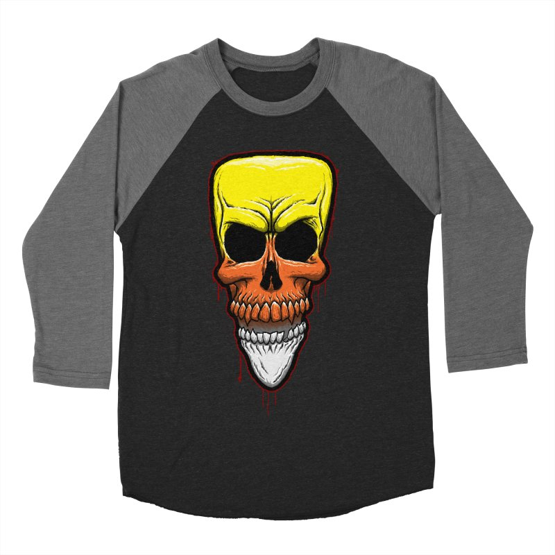 Candy Skull Women's Baseball Triblend Longsleeve T-Shirt by inbrightestday's Artist Shop