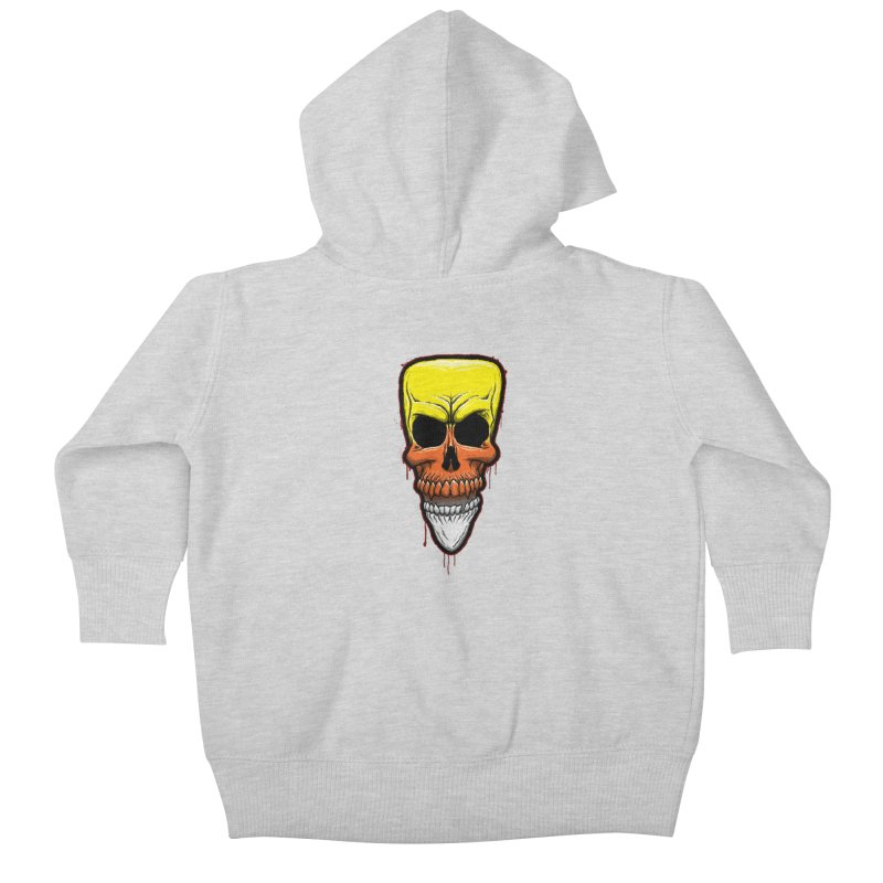 Candy Skull Kids Baby Zip-Up Hoody by inbrightestday's Artist Shop