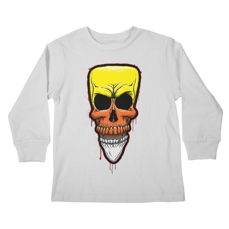 Candy Skull Kids Longsleeve T-Shirt by inbrightestday's Artist Shop