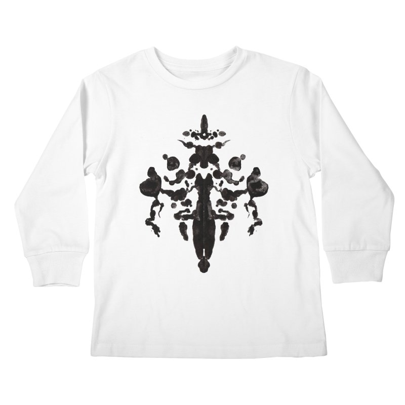 Who Watches the Rorschach Kids Longsleeve T-Shirt by inbrightestday's Artist Shop