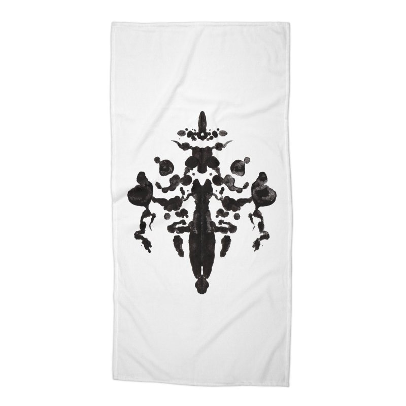 Who Watches the Rorschach Accessories Beach Towel by inbrightestday's Artist Shop
