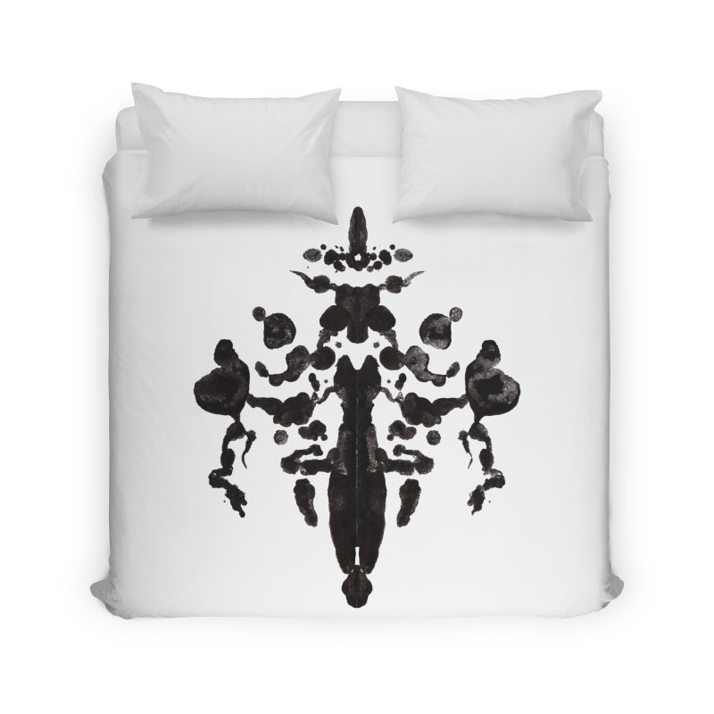 Who Watches the Rorschach Home Duvet by inbrightestday's Artist Shop