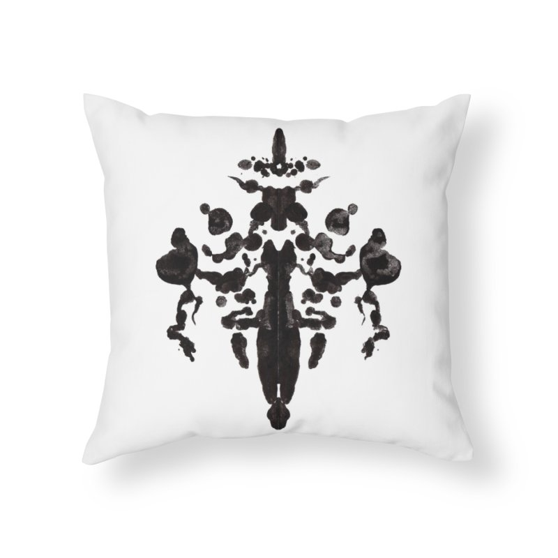 Who Watches the Rorschach Home Throw Pillow by inbrightestday's Artist Shop