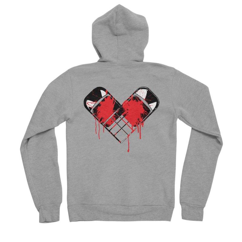 Bleeding Heart Men's Sponge Fleece Zip-Up Hoody by inbrightestday's Artist Shop