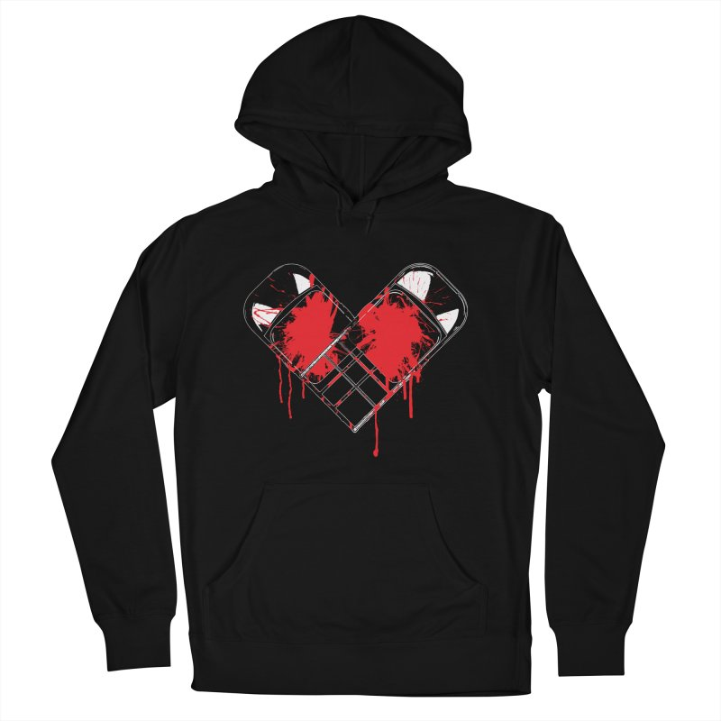 Bleeding Heart Men's French Terry Pullover Hoody by inbrightestday's Artist Shop
