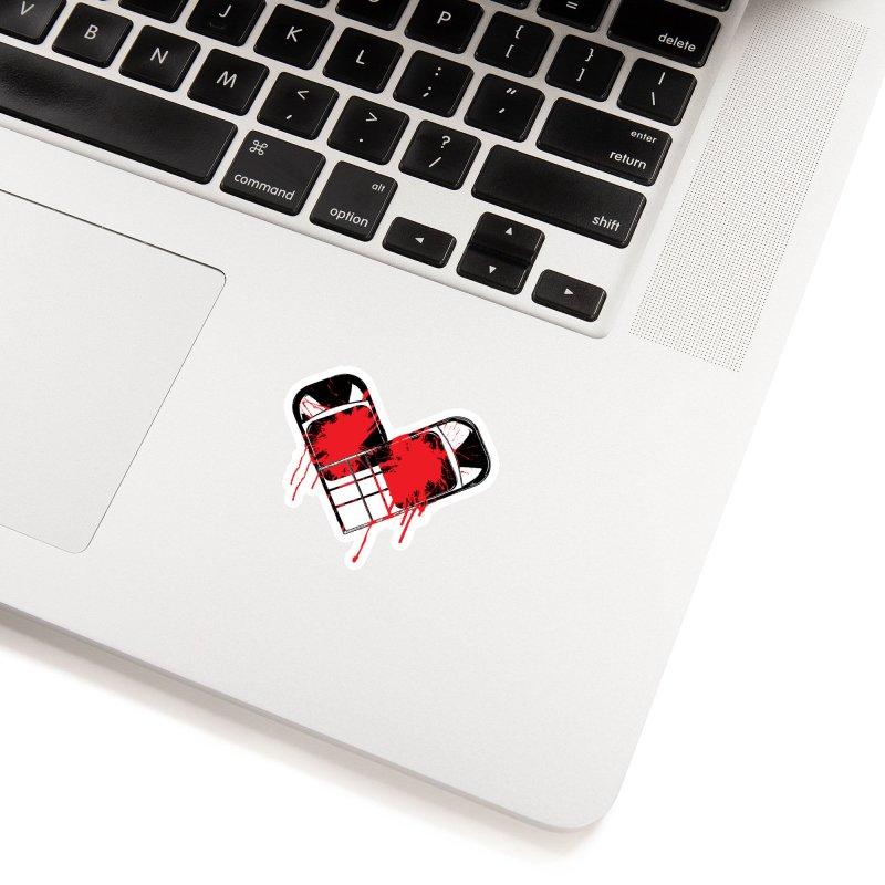 Bleeding Heart Accessories Sticker by inbrightestday's Artist Shop