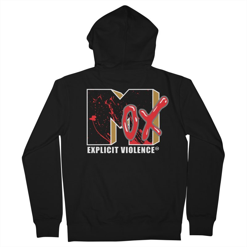 Violent Television (Black) Men's French Terry Zip-Up Hoody by inbrightestday's Artist Shop