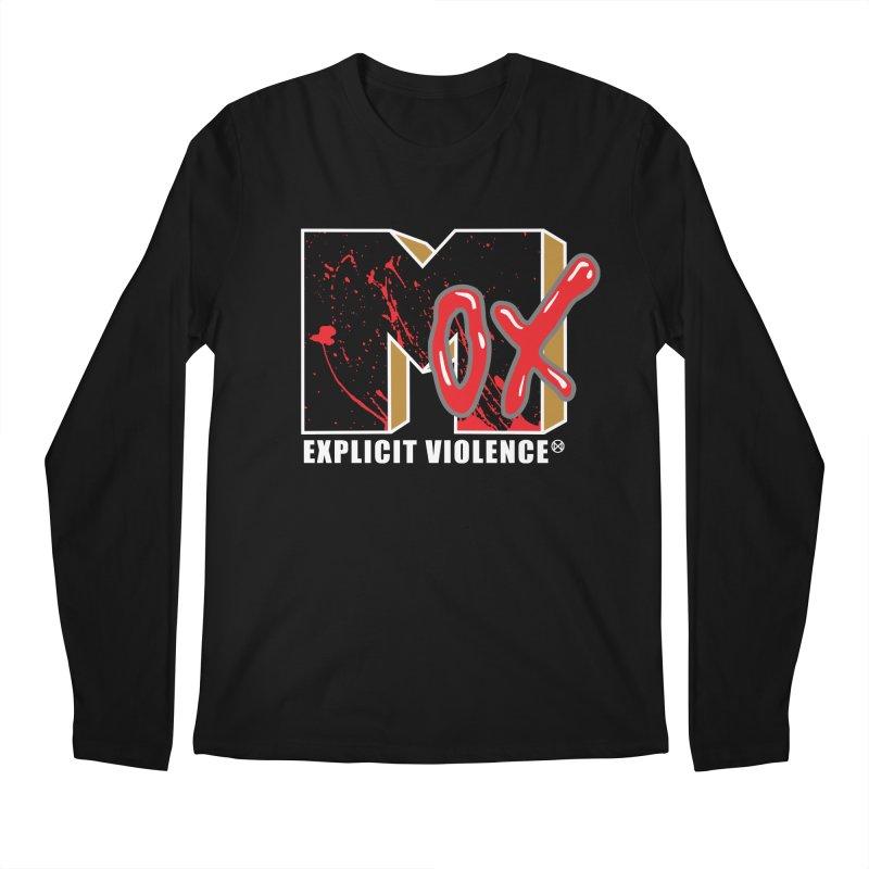 Violent Television (Black) Men's Regular Longsleeve T-Shirt by inbrightestday's Artist Shop