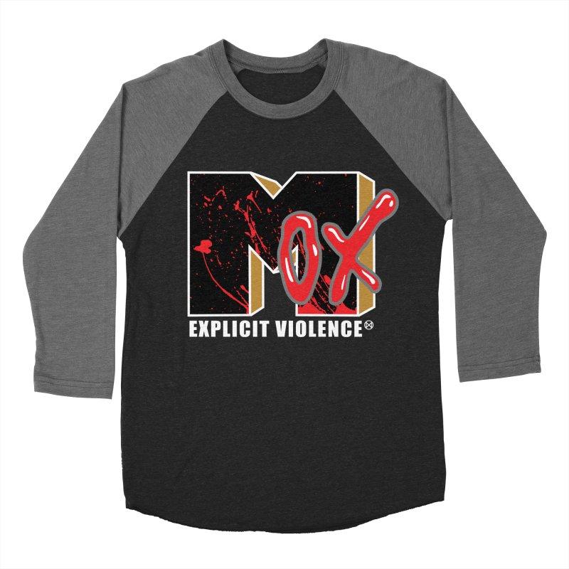 Violent Television (Black) Men's Baseball Triblend Longsleeve T-Shirt by inbrightestday's Artist Shop