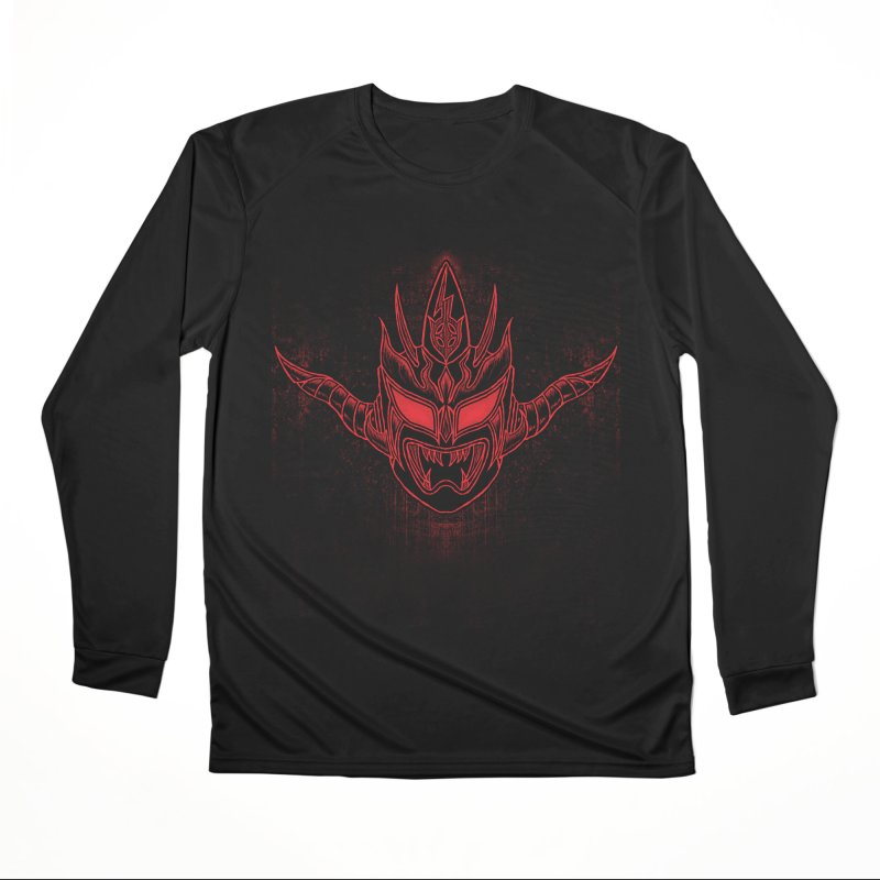 Red Thunder Men's Performance Longsleeve T-Shirt by inbrightestday's Artist Shop