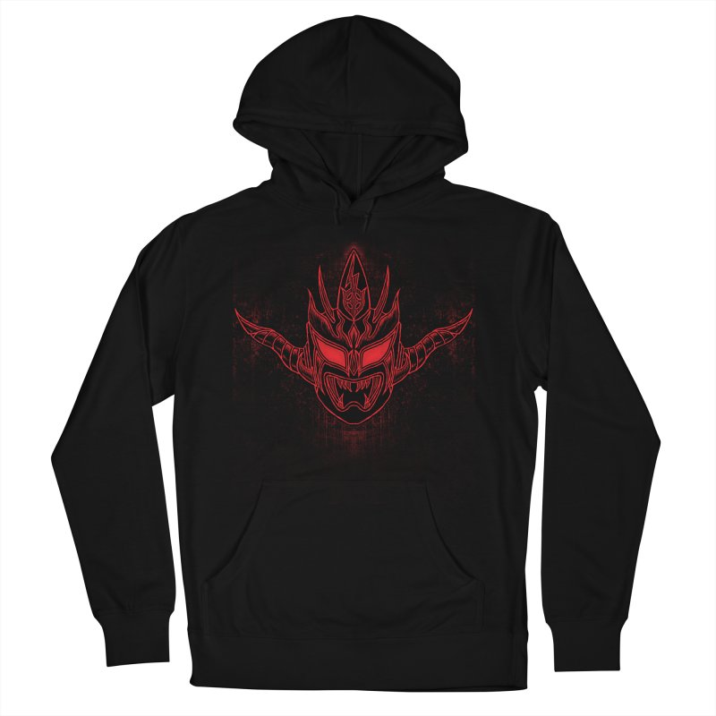 Red Thunder Men's French Terry Pullover Hoody by inbrightestday's Artist Shop