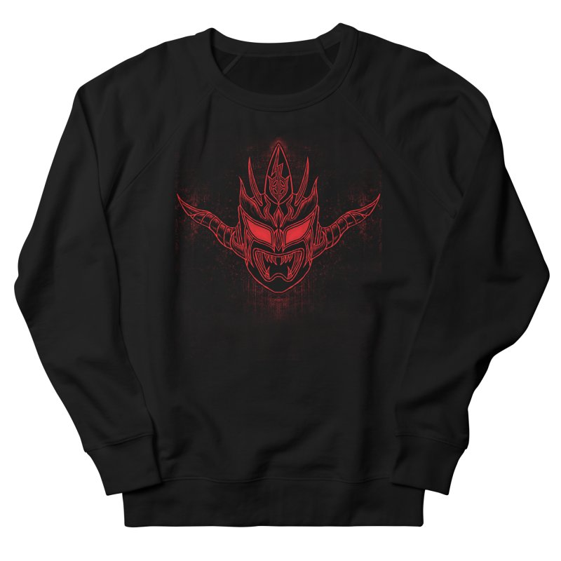 Red Thunder Women's French Terry Sweatshirt by inbrightestday's Artist Shop