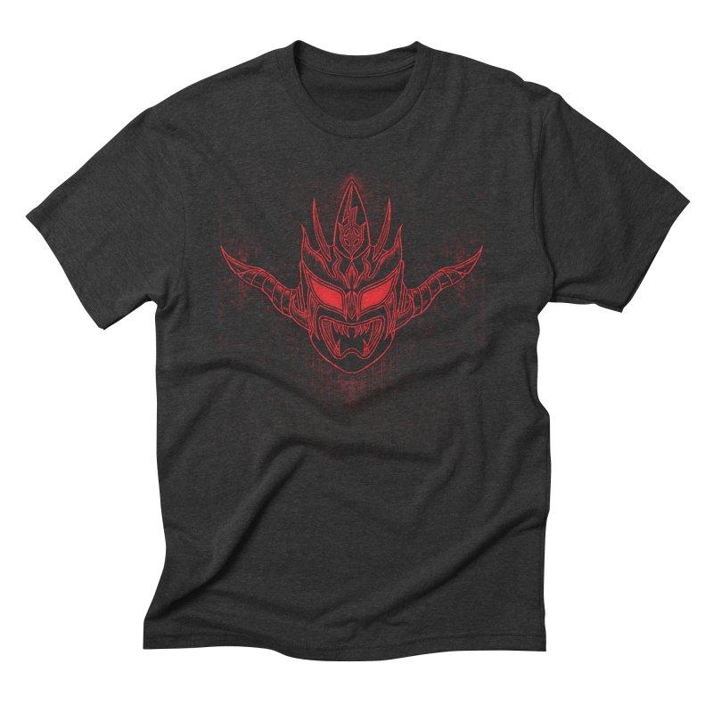 Red Thunder Men's Triblend T-Shirt by inbrightestday's Artist Shop