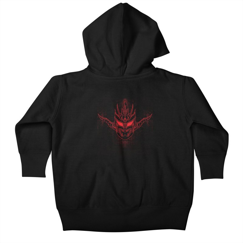 Red Thunder Kids Baby Zip-Up Hoody by inbrightestday's Artist Shop