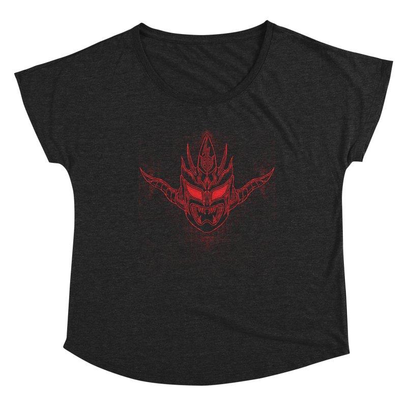 Red Thunder Women's Scoop Neck by inbrightestday's Artist Shop