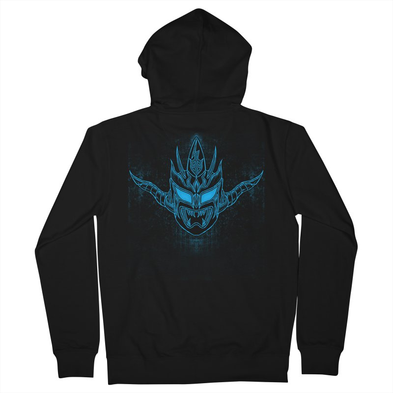 Blue Liger Men's French Terry Zip-Up Hoody by inbrightestday's Artist Shop