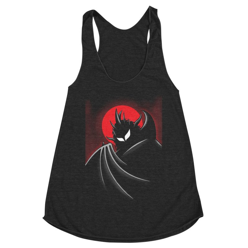 Thunder of the Night Women's Racerback Triblend Tank by inbrightestday's Artist Shop
