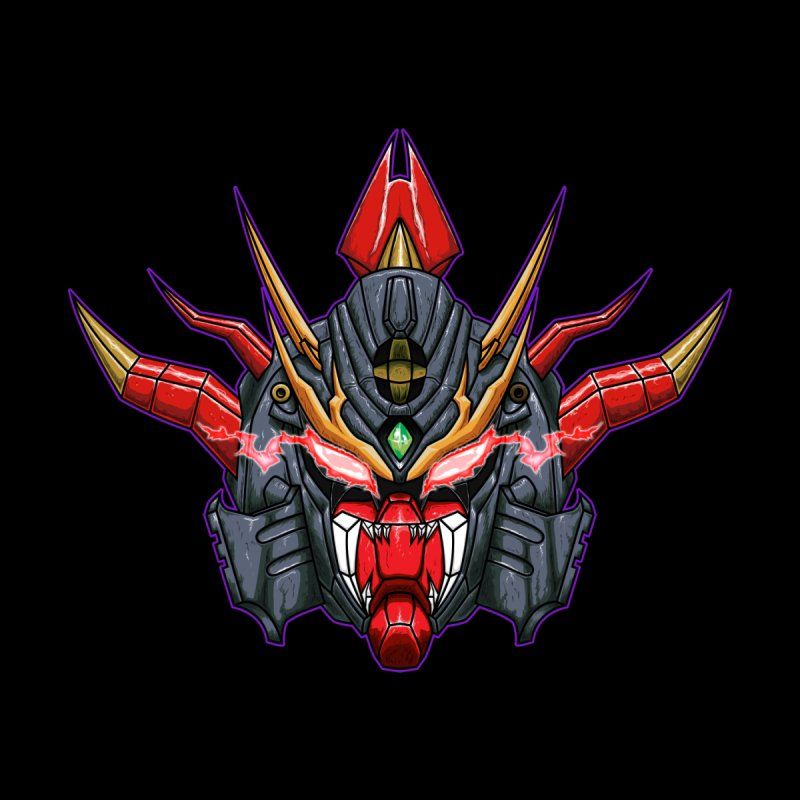 Liger Beast Mech Accessories Sticker by inbrightestday's Artist Shop